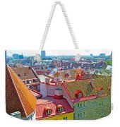Tallinn From Plaza In Upper Old Town-estonia Weekender Tote Bag