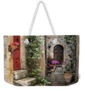 Tarquinia Red Door Impasto Weekender Tote Bag
