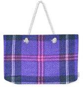 Tartan Pattern Weekender Tote Bag