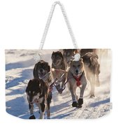 Team Of Sleigh Dogs Pulling Weekender Tote Bag
