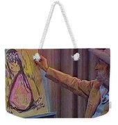 Ted Degrazia Drawing An Angel On Camera Kvoa Tv Screen Capture Christmas 1967 Weekender Tote Bag