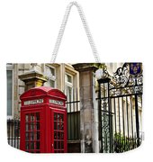 Telephone Box In London Weekender Tote Bag by Elena Elisseeva