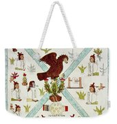 Tenochtitlan (mexico City) With Aztec Weekender Tote Bag