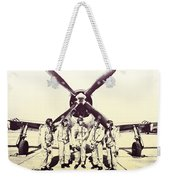 Test Pilots With P-47 Thunderbolt Fighter Weekender Tote Bag