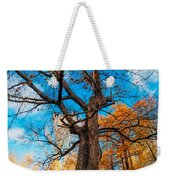 Texture Of The Bark. Old Oak Tree Weekender Tote Bag