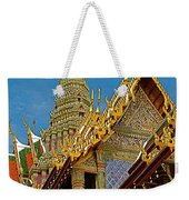 Thai-khmer Pagoda At Grand Palace Of Thailand In Bangkok Weekender Tote Bag