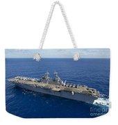 The Amphibious Assault Ship Uss Boxer Weekender Tote Bag