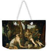 Adam And Eve After The Expulsion From Paradise Weekender Tote Bag