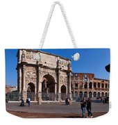 The Arch Of Constantine And Colosseum Weekender Tote Bag