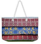 The Camp Nou Stadium In Barcelona Weekender Tote Bag