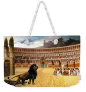 The Christian Martyrs' Last Prayer Weekender Tote Bag by Jean Leon Gerome
