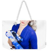 The Classic Pin-up Image. Girl In Retro Style Weekender Tote Bag
