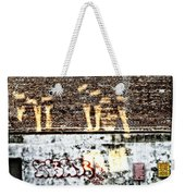 The Face On The Wall Weekender Tote Bag