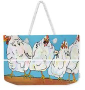 The Four Clucks Weekender Tote Bag