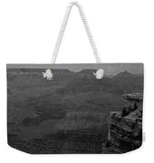 The Grand Canyon In Black And White Weekender Tote Bag