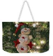 The Happy Snowman Weekender Tote Bag