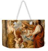 The Israelites Gathering Manna In The Desert Weekender Tote Bag
