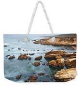 The Jagged Rocks And Cliffs Of Montana De Oro State Park In California Weekender Tote Bag