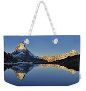 The Matterhorn And Riffelsee Lake Weekender Tote Bag