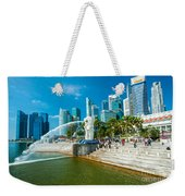 The Merlion  Fountain - Singapore Weekender Tote Bag