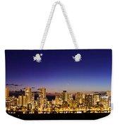 The Moon And Venus Over Honolulu Weekender Tote Bag