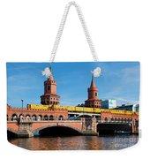 The Oberbaum Bridge In Berlin Germany Weekender Tote Bag