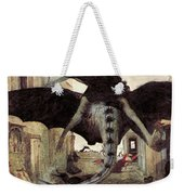 The Plague Weekender Tote Bag by Arnold Bocklin