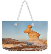 The Rabbit Stone Formation In White Desert Weekender Tote Bag