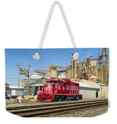 The Red Locomotive Weekender Tote Bag