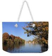 The River Thames At Hampton Court London Weekender Tote Bag