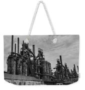 The Steel Mill In Black And White Weekender Tote Bag