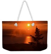 The Sunrise From Cadillac Mountain In Acadia National Park Weekender Tote Bag