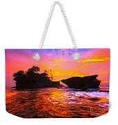 The Tanah Lot Temple - Bali - Indonesia Weekender Tote Bag