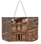 the treasury Nabataean ancient town Petra Weekender Tote Bag
