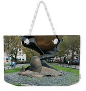 The W T C Plaza Fountain Sphere Weekender Tote Bag