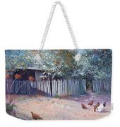 The White Picket Fence Weekender Tote Bag