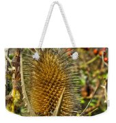 Thistle On Sunny Autumn Day Weekender Tote Bag