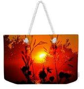 Thistles In The Sunset Weekender Tote Bag