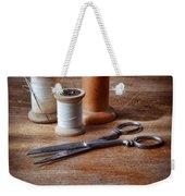 Thread And Scissors Weekender Tote Bag
