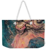 Three Dancers In Red Costume Weekender Tote Bag