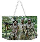 Three Soldiers Statue Weekender Tote Bag
