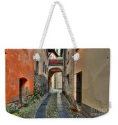 Tight Alley With A Bridge Weekender Tote Bag