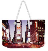 Times Square, Nyc, New York City, New Weekender Tote Bag