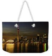 Toronto Evening Sky Line Panorama Weekender Tote Bag