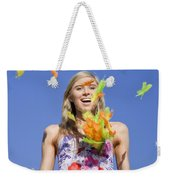 Toss The Feathers Weekender Tote Bag