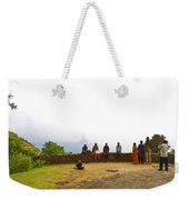 Tourists Posing For Photos Weekender Tote Bag