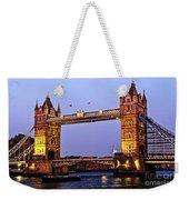 Tower Bridge In London At Dusk Weekender Tote Bag by Elena Elisseeva