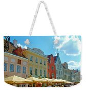 Town Square In Old Town Tallinn-estonia Weekender Tote Bag