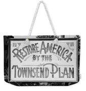 Townsend Plan, 1939 Weekender Tote Bag