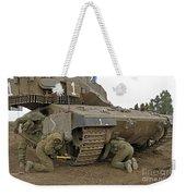 Track Replacement On A Israel Defense Weekender Tote Bag